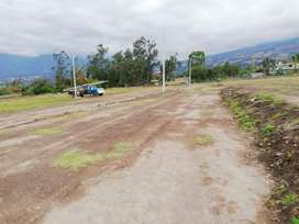 Venta de lotes de terreno desde 300 m2 con hermosa vista a Ibarra