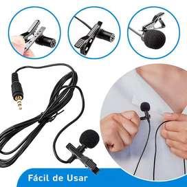 Micrófono de Solapa Jack 3.5 Mm Plug Stereo / Celular / Laptop / PC / Microfono para Celular y PC