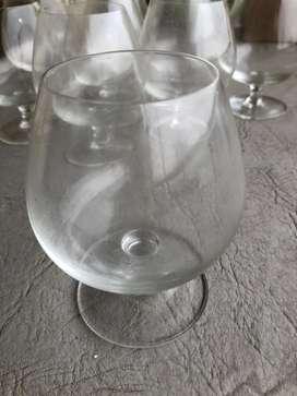 Juego 10 Copas De Cristal De Cognac Gran Tamaño