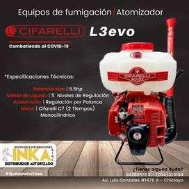 ATOMIZADOR L3EVO - MARCA: CIFARELLI / MOTOR: Cifarelli C7, 2 tiempos / CILINDRA:7 cc / 17 LITROS
