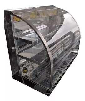Vitrina de calefacción vidrio curvo de 60×35