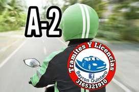 A2 licencia para motocicleta Jamundi Cali (Bayron Quintero)