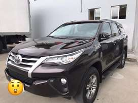 Toyota fortuner 2,700 cc 4x4 color cafe