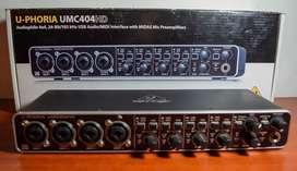 Interfaz de audio behringer umc 404hd