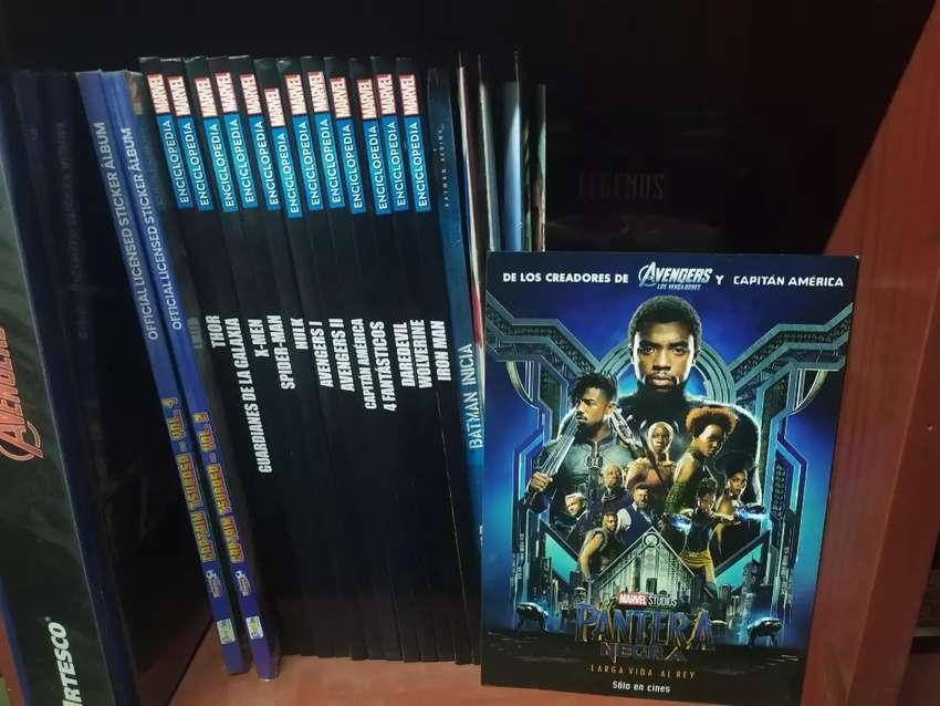 Enciclopedias Marvel colección completa+ lámina de pantera negra 0