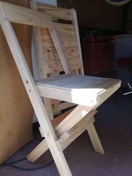 Sillas Plagables de madera