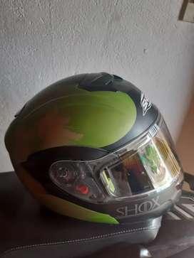 Vendo casco Shox abatible excelentes condiciones