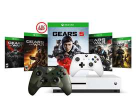 Xbox One S 1tb Gears Of War 5  4 Juegos Extra  2 Controles