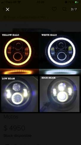 faro optica de led 7 ojo de angel jeep moto cafe racer