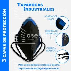 Mascarillas y Tapabocas Industriales en tela no tejida