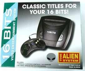 Consola Family Alien 16 Bits Sega Verde Incluye 25 Juegos Envio Gratis Todo El Pais