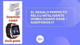 Reloj Inteligente Homologado Dz09 + Audífonos I7