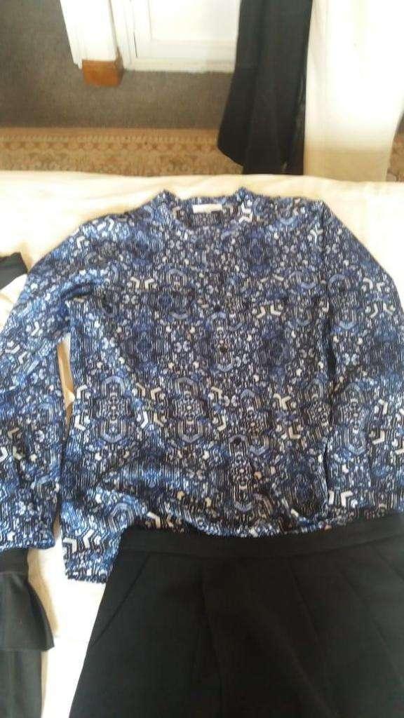 blusa azul para mujer marca calvin klein