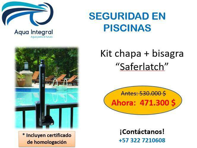 Chapa de seguridad en piscinas Saferlatch 0