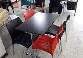 Mesas y sillas para panadería cafetería