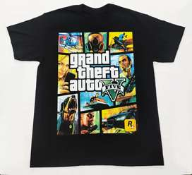 Camiseta Grand Theft Auto, video juegos, Nintendo,gamers
