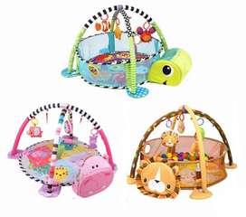 Alfombra tapete gimnasio de bebe 3 en 1 diseño animalitos