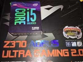 i5 9600k con placa madre Z370 ultra Gaming 2.0 con garantia