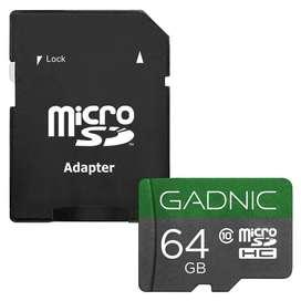 Memoria Micro Sdhc Gadnic 64gb Clase 10