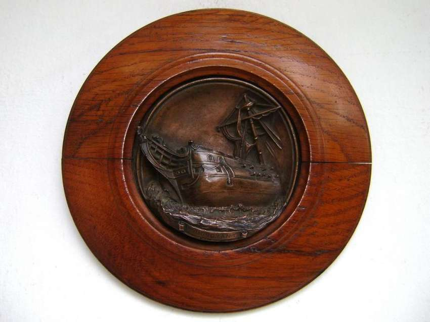 Gran Medalla Plaqueta HMS Foudroyant barco Nelson / Maxim Nord 0
