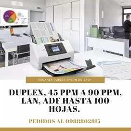 ESCANER profesional DS-780N Duplex 45ppm Lan