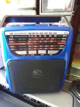 Radio parlante recargable fms doble con linterna para USB y SD larga duración portable buen sonido