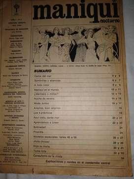 revista Maniquí 1976 NRO 4 mucho molde para verano