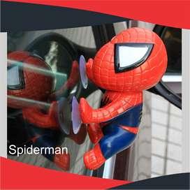 Spiderman ventana decoración interior Car