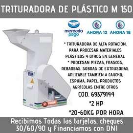 TRITURADORA DE PLASTICOS M150 60KG/HORA