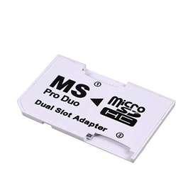 Adaptador Dual De Micro Sd A Memory Stcik Pro Duo Psp