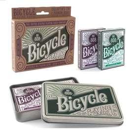 Cartas Bicycle Autobike Retro 2 Mazos N° 808 Limitada Lujo.