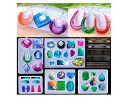 195 moldes de resina para pendientes, moldes de resina epoxi para joyas, moldes de resina de resina para manualidades,