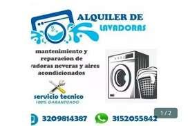 Alquiler de lavadoras, servicio técnico ,
