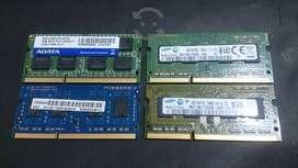 Memorias ram ddr3 de 2gb para laptop