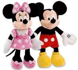 Pareja Mickey Mouse y Minnie Peluche Con Sonido 36cm