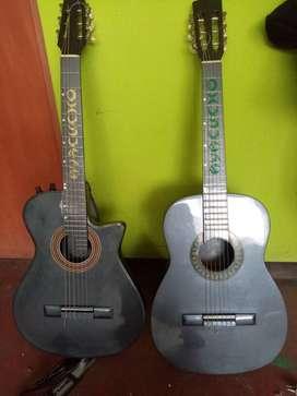 vendo  una guitarra basica   precio negociable
