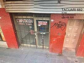 EXCELENTE UBICACIÓN TACUARI 682 LOCAL SIN EXPENSAS 35 M2