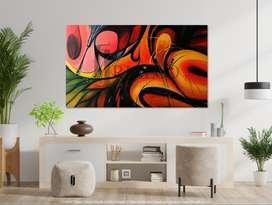 Cuadro Oleo Original. Abstracto. 100 X 170 Cm