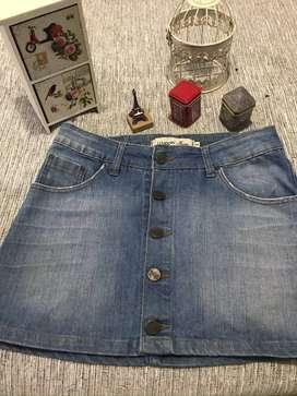 Pollera de Jeans Wupper
