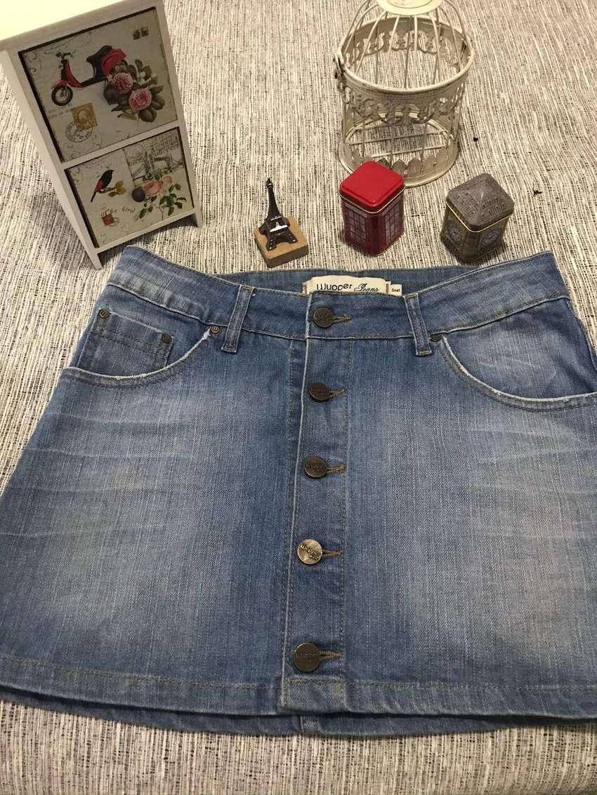 Pollera de Jeans Wupper 0