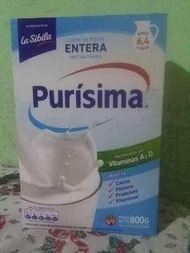 Vendo leche purissima