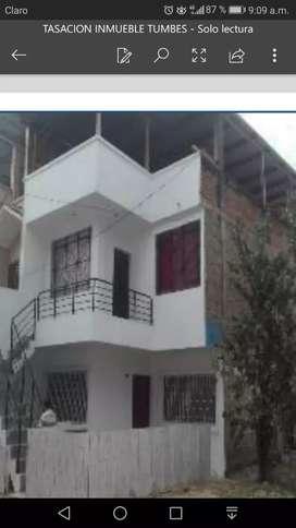 Alquilo en Tumbes - Puyango Casa de DOS pisos con Terraza techada