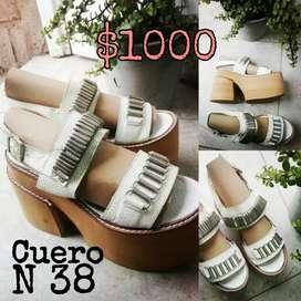 Sandalias de Cuero N38