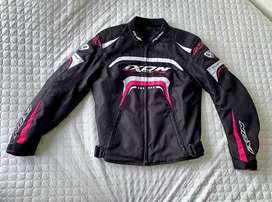 Combo chaqueta + botas moto mujer