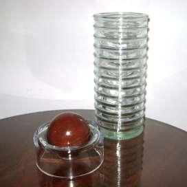 Florero diseño español La Mediterránea vidrio reciclado / Maxim Nord