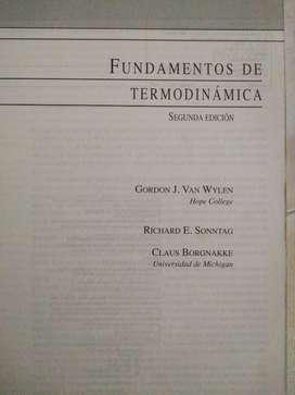 Vendo Termodinámica de Van Wylen Origina