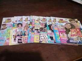 Vendo revistas, libros,cuadernos,billetera,sticker