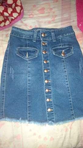 Falda de jeans