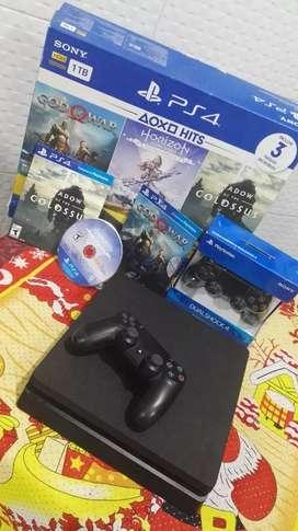 PlayStation 4 consola+ 2 controles+ 3 juegos