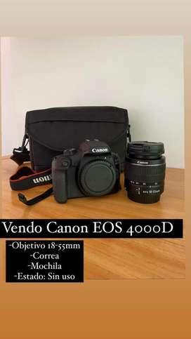 Cámara Canon EOS 4000D + Objetivo 18-55mm + Accesorios